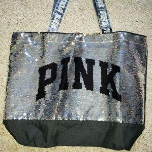 Victoria Secret Pink big sequined tote bag